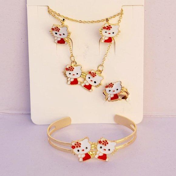 Girls' Hello Kitty Set Laminated Gold